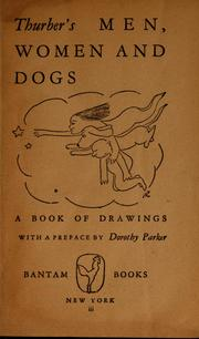 Cover of: Thurber's men, women and dogs: a book of drawings