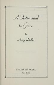 Cover of: A testimonial to grace