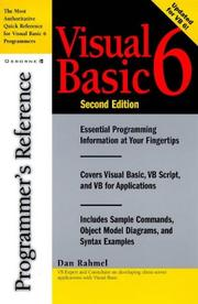 Cover of: Visual Basic 6: programmer's reference