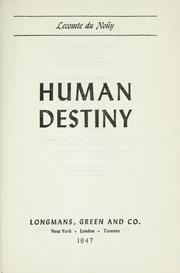 Cover of: Human destiny