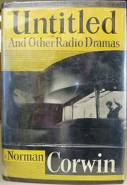 Cover of: Untitled, and other radio dramas