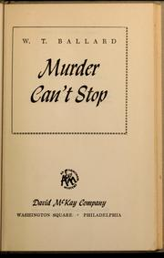Cover of: Murder can't stop