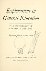Cover of: Explorations in general education