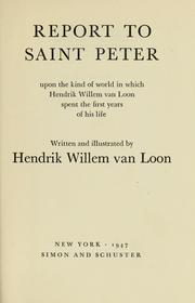 Cover of: Report to Saint Peter