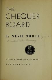 Cover of: The chequer board