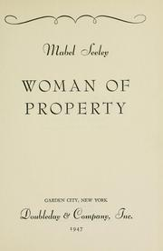 Cover of: Woman of property