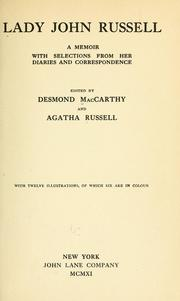 Cover of: Lady John Russell