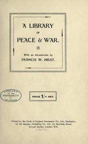 Cover of: A library of peace & war