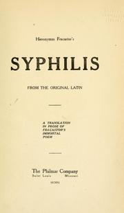 Cover of: Syphilis