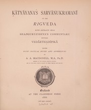 Cover of: Kâtyâyana's Sarvânukramanî of the Rigveda