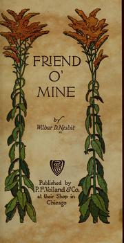 Cover of: Friend o' mine