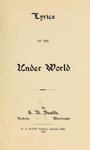 Cover of: Lyrics of the under world