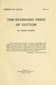 Cover of: The standard price of cotton