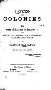 Cover of: Défense des colonies