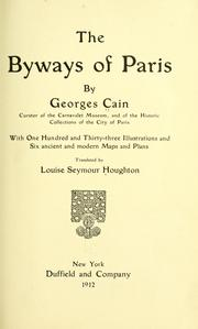 Cover of: The byways of Paris