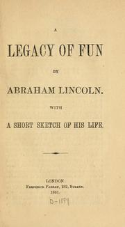 Cover of: A legacy of fun
