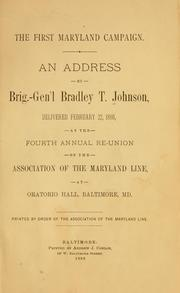 Cover of: The first Maryland campaign