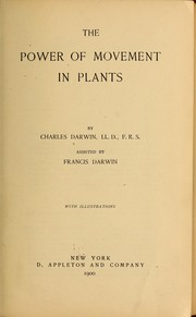 Cover of: The power of movement in plants