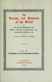 Cover of: The history and progress of the world
