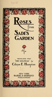 Cover of: Roses from Sadi's garden