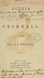 Cover of: Luther and Cromwell
