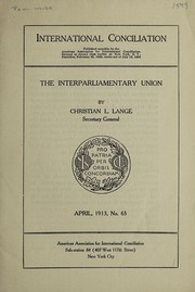 Cover of: The Interparliamentary union