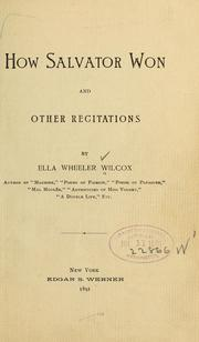 Cover of: How Salvator won: and other recitations