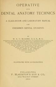 Cover of: Operative and dental anatomy technics