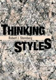 Cover of: Thinking styles
