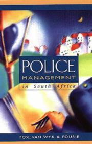 Cover of: Police management in South Africa
