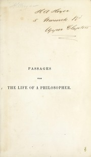 Cover of: Passages from the life of a philosopher