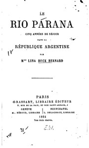 Cover of: Le Rio Parana