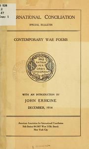 Cover of: Contemporary war poems