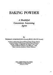 Cover of: Baking powder