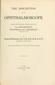Cover of: The description of an ophthalmoscope