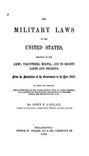 Cover of: The military laws of the United States