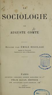 Cover of: La sociologie