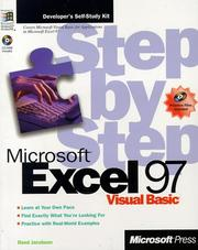 Cover of: Microsoft Excel 97/Visual Basic step by step