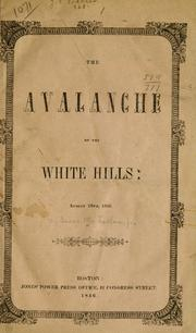 Cover of: The avalanche of the White Hills, August 28th, 1826.
