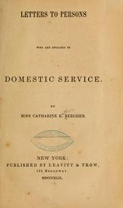 Cover of: Letters to persons who are engaged in domestic service