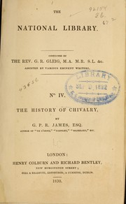 Cover of: The history of chivalry
