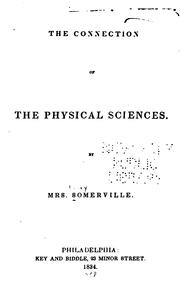 Cover of: The Connection Of The Physical Sciences