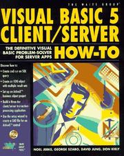 Cover of: Visual Basic 5 client/server how-to