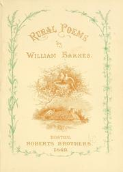 Cover of: Rural poems