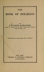 Cover of: The book of holidays