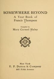 Cover of: Somewhere beyond