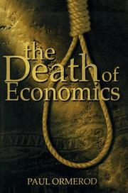 Cover of: The death of economics