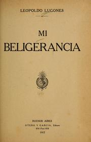 Cover of: Mi beligerancia