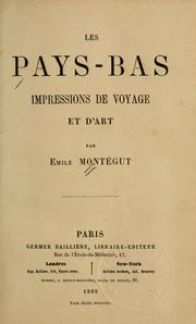 Cover of: Les Pays-Bas