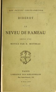 Cover of: Le neveu de Rameau